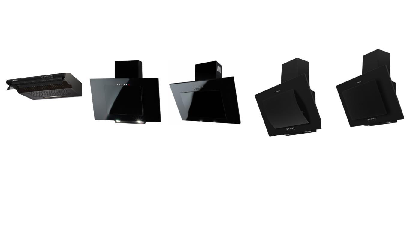 Секреты выбора лучших черных вытяжек шириной 50 см