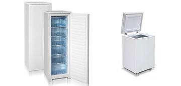 Бытовые морозильные камеры Бирюса 116, Бирюса 100VK