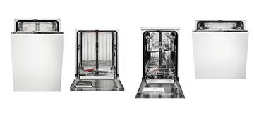 Встраиваемые вместительные посудомоечные машины  AEG FSR