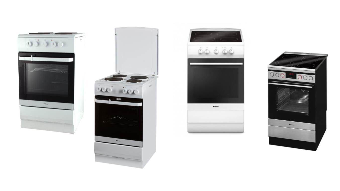 Сравнение лучших моделей плит Hansa с большой духовкой