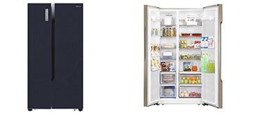 Вместительные двухдверные холодильники Hisense RC-67WS4 SAB, RC-67WS4 SAY
