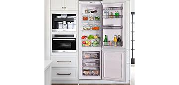 Встраиваемый двухкамерный холодильник MAUNFЕLD MBF 177NFW