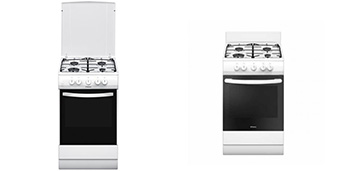 Газовые плиты для небольшой кухни: обзор Hansa FCGW52021, FCGW52197